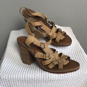 Gianni Bini size 9 strapped leather heels